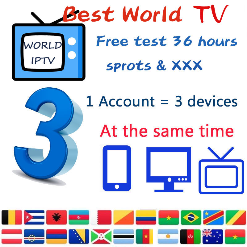 World HD IPTV Subscription 6500 Mov 9000 Global German Spain Uk Dutch Greek M3u Iptv For Smart Android Tv Box Support 3 Devices