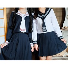 Japanese School Uniforms JK Suits Navy Skirts Female Dresses Sailor Costumes Dress Girls Cosplay Costumes Clothes for Women