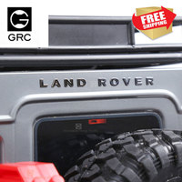 RC 자동차 GRC Traxxasrc 랜드 로버 수비수 금속 차량 로고 TRX4 RC4WD D90 D110 수비수 라벨링