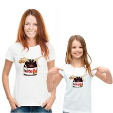 Mama Daughter Clothes T shirt Aesthetic Casual Nutella Delicate Print Ropa Mujer T-shirt Harajuku Versatile Vogue Tshirt