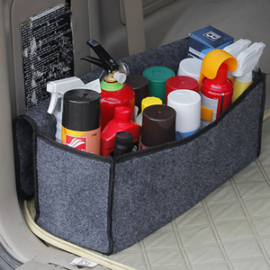 Image 3 - Car Soft Felt Storage Box Trunk Bag Vehicle Tool Box Multi use Tools Organizer Bag Carpet Folding for emergency Box