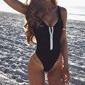 Женский сплошной сексуальный цельный купальник с подкладкой, бикини, купальный костюм, монокини, на молнии, бикини, женский пляжный костюм, ...