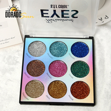 Doradosun 9 Color Eye Shadow Glitter Shimmer Long-lasting Brighten Pallet Makeup