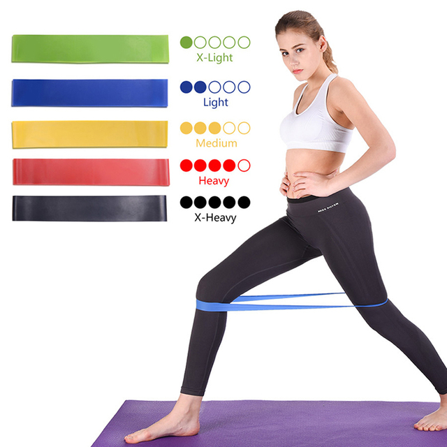 Elastic Fitness Bands Resistance Bands for Bodybuilding Fitness Exercise Gym Sport Strength Training Pilates Workout Equipment 5