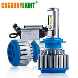 CNSUNNYLIGHT linterna del coche de H7 H4 LED H8/H11 HB3/9005 HB4/9006 H1 H3 9012 H13 9004 9007 70W 7000lm bulbo Auto faro 6000K de la luz