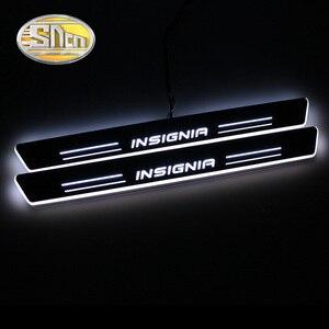Image 1 - SNCN Wasserdichte Acryl Moving LED Willkommen Pedal Scuff Platte Pedal Türschwelle Pathway Licht Für Opel Insignia 2013 2014 2015