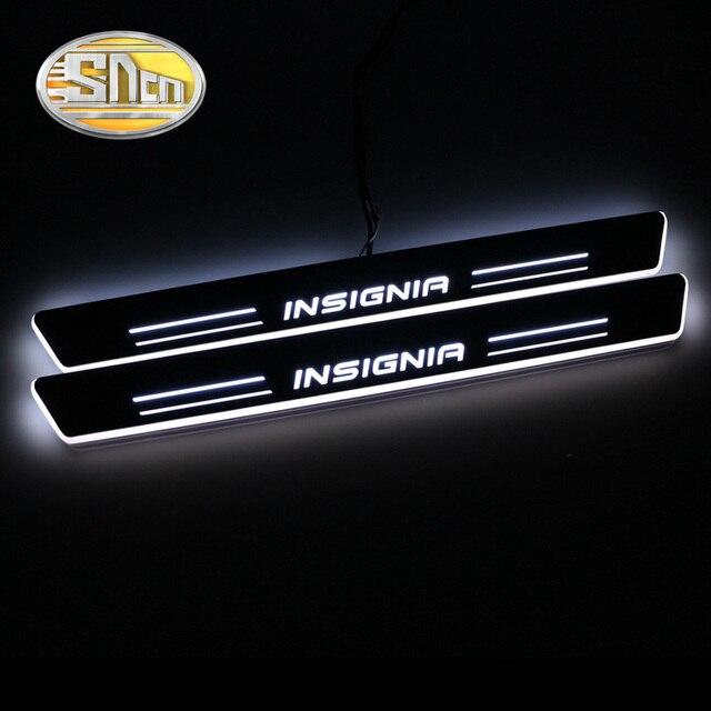 SNCN Wasserdichte Acryl Moving LED Willkommen Pedal Scuff Platte Pedal Türschwelle Pathway Licht Für Opel Insignia 2013 2014 2015