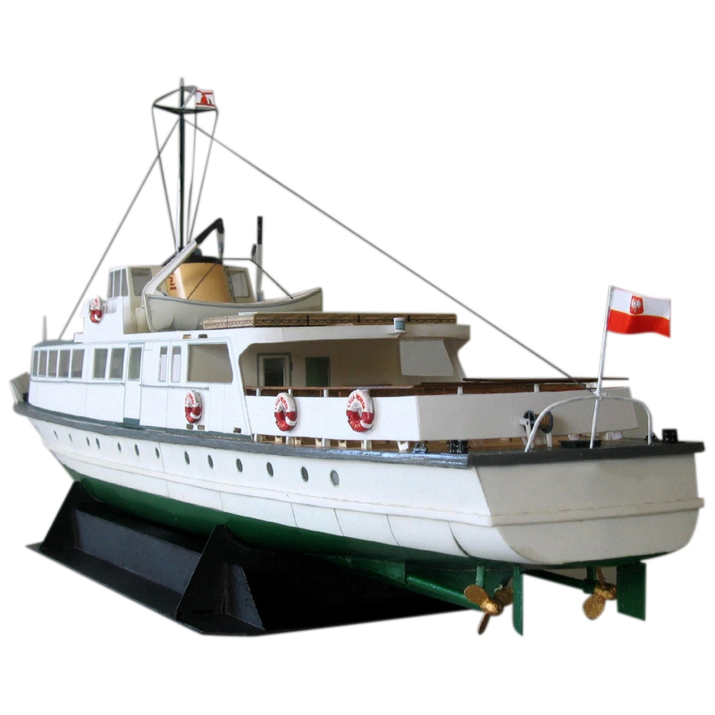 DIY Paper Model 1:100 Polish Coast Ferry Ship Assemble Hand Work 3D Puzzle Game Kids Toy