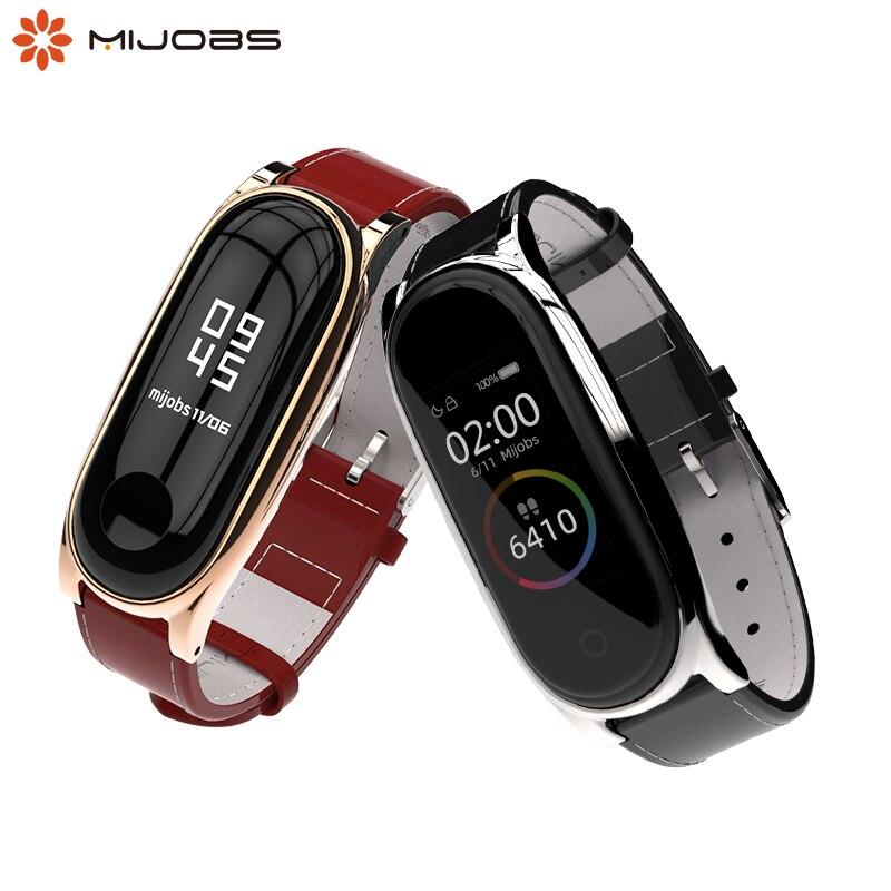 For Mi Band 4 Strap for Xiaomi Mi Band 3 Bracelet Genuine Leather Wristband Smart Watch Miband 4 NFC Accessories Wrist Straps(China)