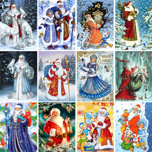 5D DIY Diamond Painting Full Square Santa Claus Kit Embroidery Mosaic Art Picture Cross Stitch Wall Sticker Gift Home Decoration
