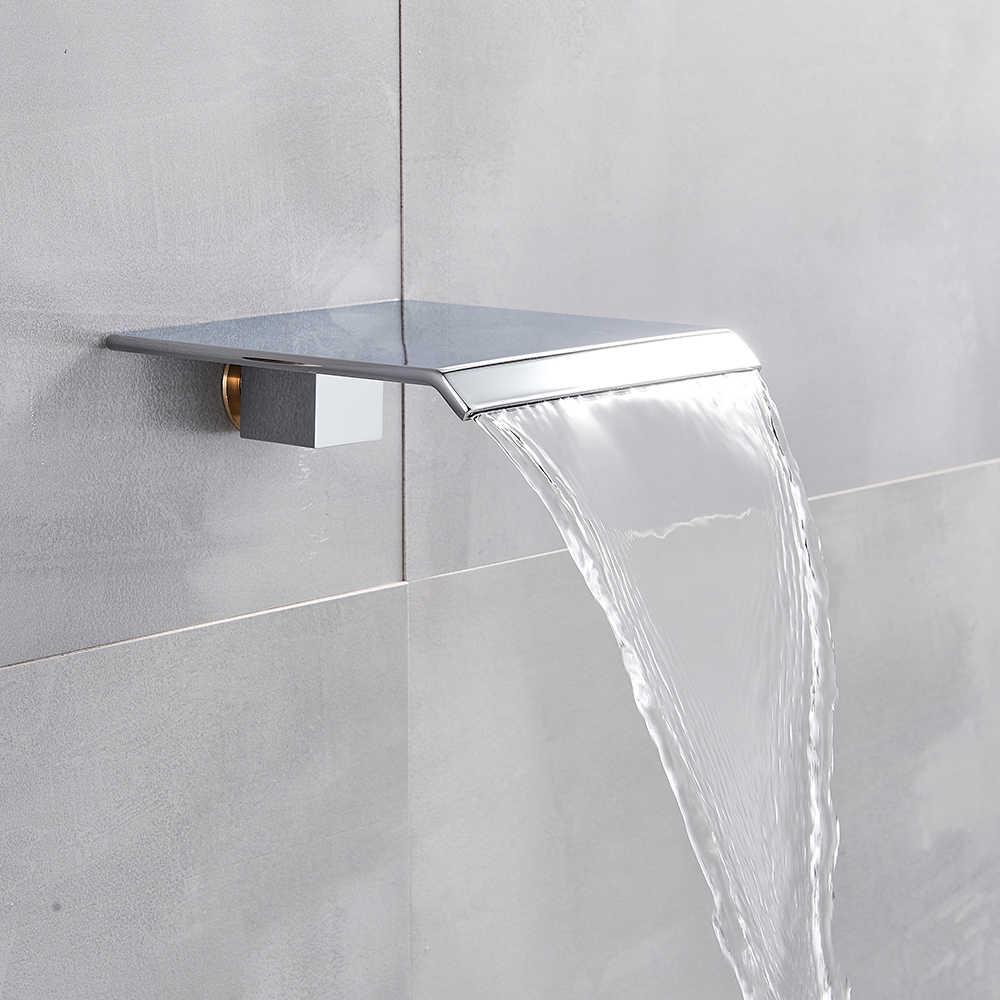Krom şelale duş bataryası seti duvara monte banyo musluk bataryası banyo duş seti el duşu ile