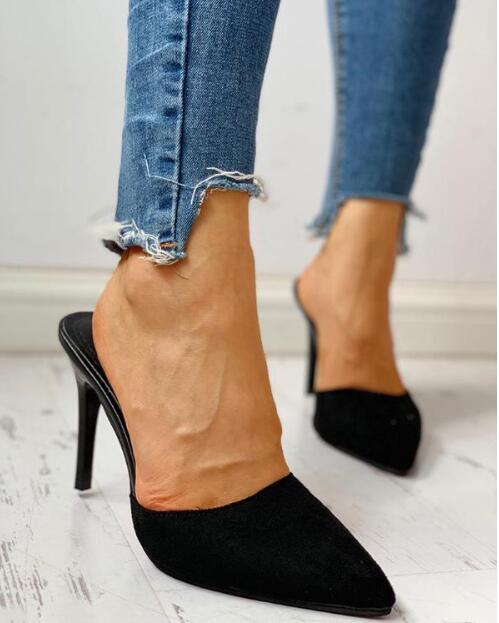Women Shoes New Fashion Casual Point Toe Buckle Strap Square Heel Med Female Sexy Party High Heels White Pumps Square Heels