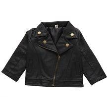 Детская кожаная куртка для мальчиков и девочек; Ботинки в байкерском