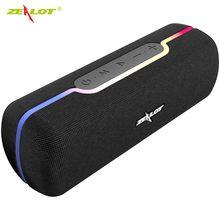 Zealot s55 controle de toque alto-falante portátil sem fio bluetooth caixa de som baixo estéreo de alta fidelidade com tws e microfone embutido