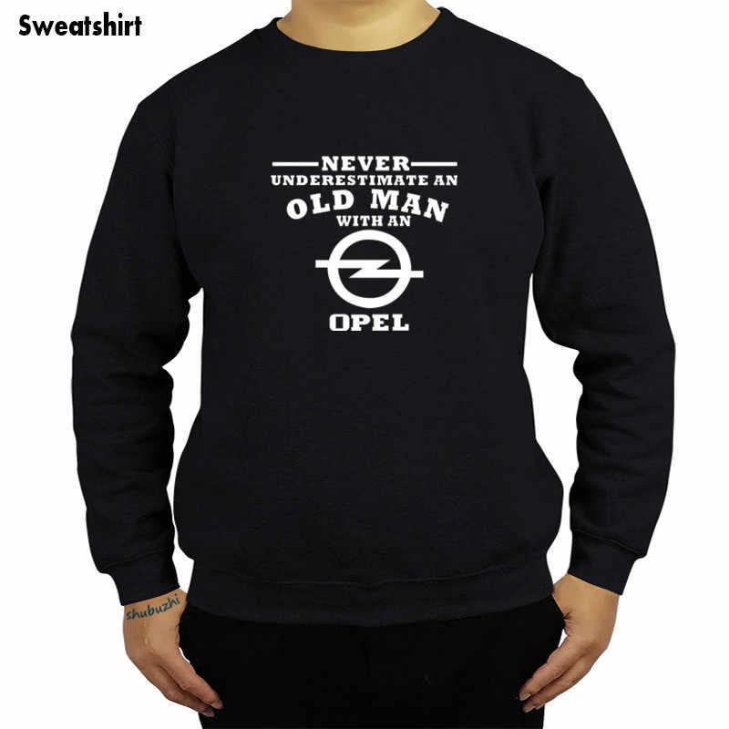 OPEL Vauxhall 결코 노인을 과소 평가 남자 스웨터 블랙 패션 후드 사용자 정의 인쇄 hoody 힙합 재미 톱 sbz4303