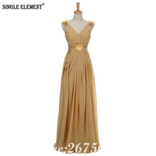 SINGLE ELEMENT Mother Of The Bride Dresses V Neck Pleated Flower Beaded Wedding Party Dress