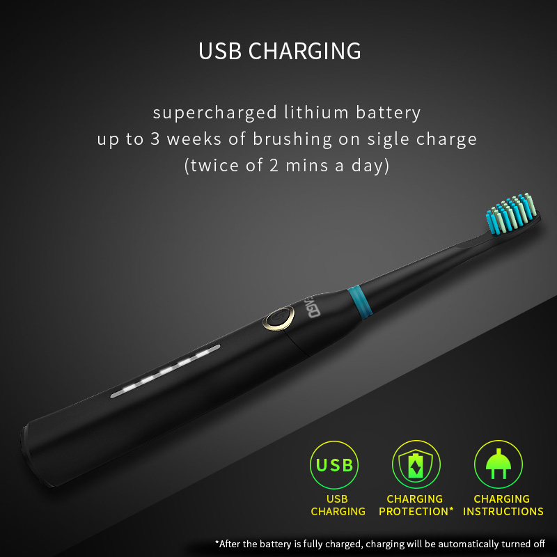 SEAGO Lovers Rechargeable Electric Toothbrush Sonic Tooth Brush Travel Box Portable Folding Cup Ultrasonic Replace Brush Heads