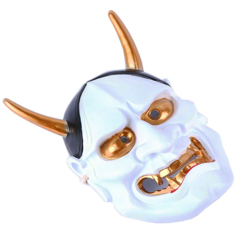 Image 4 - High Quality Halloween Horror Cosplay Mask Buddhism Prajna Ghost  Traditional Hannya Mask Japanese Theme Party Resin MaskParty Masks   -