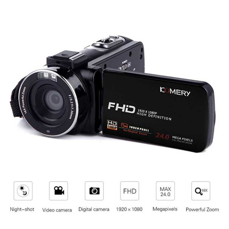 3Inch 16X 4K Full HD Video Camera Wifi Professional Night Vision Anti-Shake Digital Photo Vlog Camera Camcorder Flow Stabilizer image
