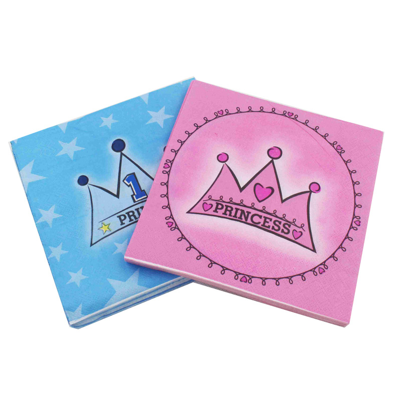 [Currently Available] Color Printed Napkin Princess Crown Cartoon Creative Tissue Napkin
