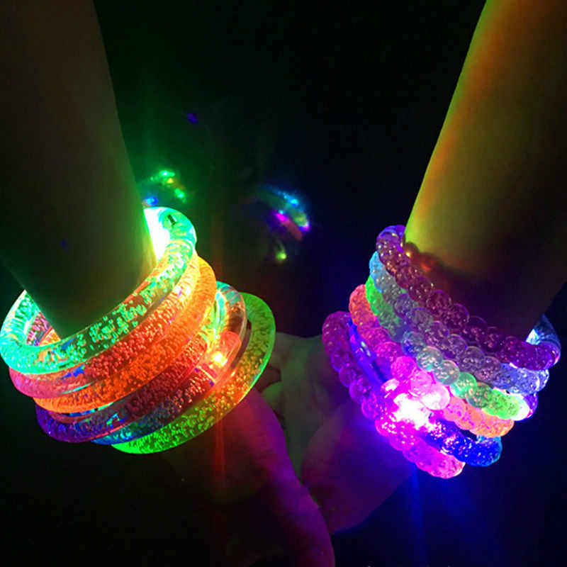 Color Changing LED Bracelet Light Up Flash Bracelet Luminous Bracelet Luminous Toys for Children Christmas Party Toys
