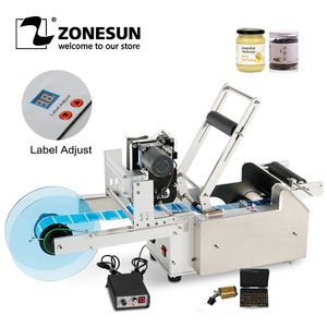 Image 1 - ZONESUN LT 50D Semi Automatic Labeling Machines Drugs Bottle Labeling Sticker Machine Label Dispenser Date With Coder