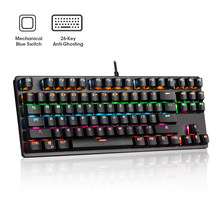 Mechanical Keyboard 87 Keys PC Gamer Wired USB Keyboards Blue Axis Switch RGB Gaming Competitive Computer Professional Keyboard
