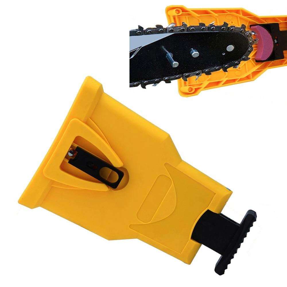 Chainsaw Teeth Sharpener Chainsaw Portable Durable Easy Power Sharp Bar-Mount Fast Grinding Chainsaw Chain Sharpener Tool