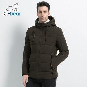 Image 2 - ICEbear 2019 חדש גברים של חורף מעיל באיכות גבוהה גברים של מעיל ברדס זכר מעיל לעבות חם גבר הלבשה MWD18925I