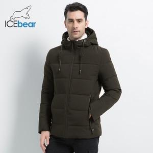 Image 2 - ICEbear Chaqueta gruesa de invierno para hombre, abrigo masculino de alta calidad con capucha, ropa de abrigo gruesa, MWD18925I, 2019