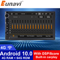 Автомагнитола Eunavi DSP 2 Din Android мультимедийный плеер 4G 64 Гб универсальная Автомагнитола стерео аудио HD экран GPS навигация без DVD