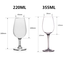 2Pcs/Lot Plastic Unbreakable Red Wine Glasses Cocktail Glass Wine Goblets Juice Wine Drinking Glasses Cups Home Wedding Party