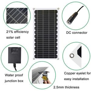 Image 5 - 12V 10w zestaw paneli słonecznych przezroczysty półelastyczny panel solarny monokrystaliczny moduł DIY zewnętrzne złącze DC 12v ładowarka