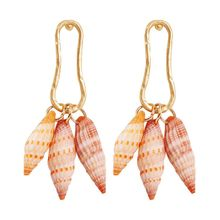 Beach Natural Shell Conch Pendant Drop Statement Earrings Women Summer Jewelry H8WF