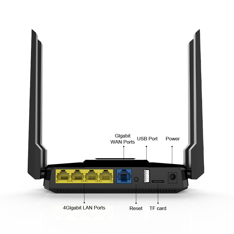 1200Mbps Wireless Wifi Router Dual Band Wifi Reapter Extender 1*WAN 4*LAN Gigabit USB Ports English Firmware Wider Coverage ZBT