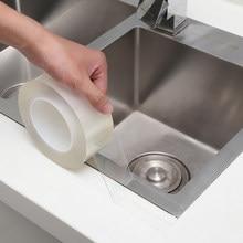 Kuchnia wodoodporna pleśni silne samoprzylepne przezroczysta taśma taśma łazienka luki taśmy samoprzylepne wody w basenie uszczelnienie