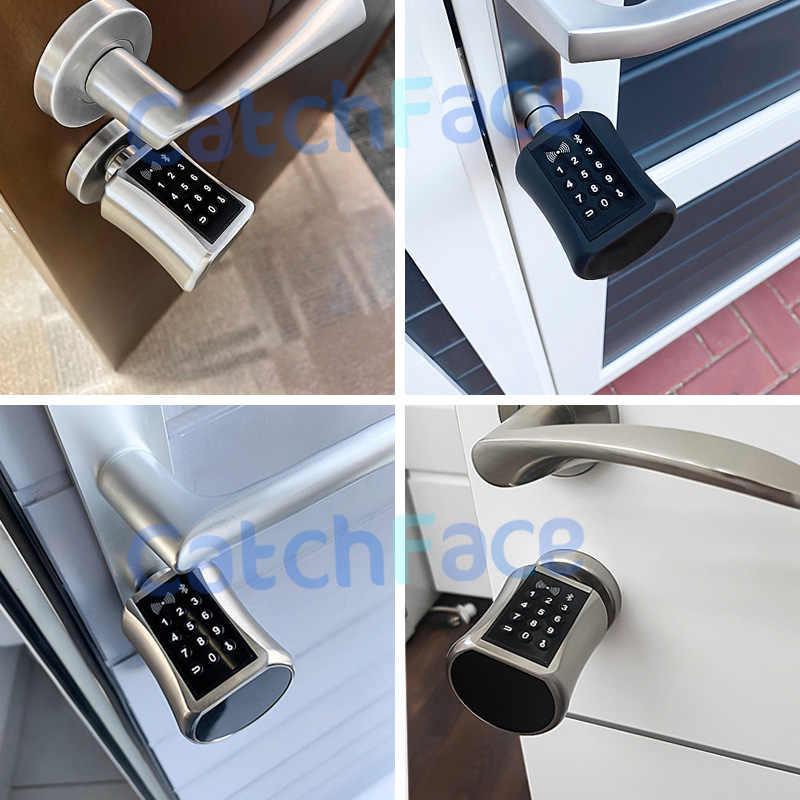 Smart Silinder Kunci Gaya Eropa Kunci Pintu Elektronik Digital Keypad Kode Kartu RFID Tanpa Kunci Kunci untuk Rumah