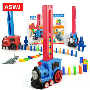 Train-Toy-Set Building-Blocks Domino Electric-Train-Model Rally 128pcs with Colorful