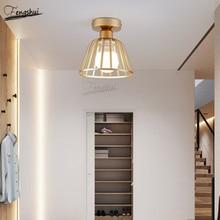 Postmodern Minimalist Wrought Iron LED Ceiling Lamp Lighting Nordic Corridor Lights Restaurant Staircase Decorative