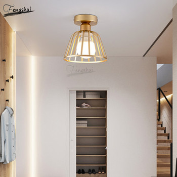 Postmodern Minimalist Wrought Iron LED Ceiling Lamp Lighting Nordic Corridor Ceiling Lights Restaurant Staircase Decorative Lamp
