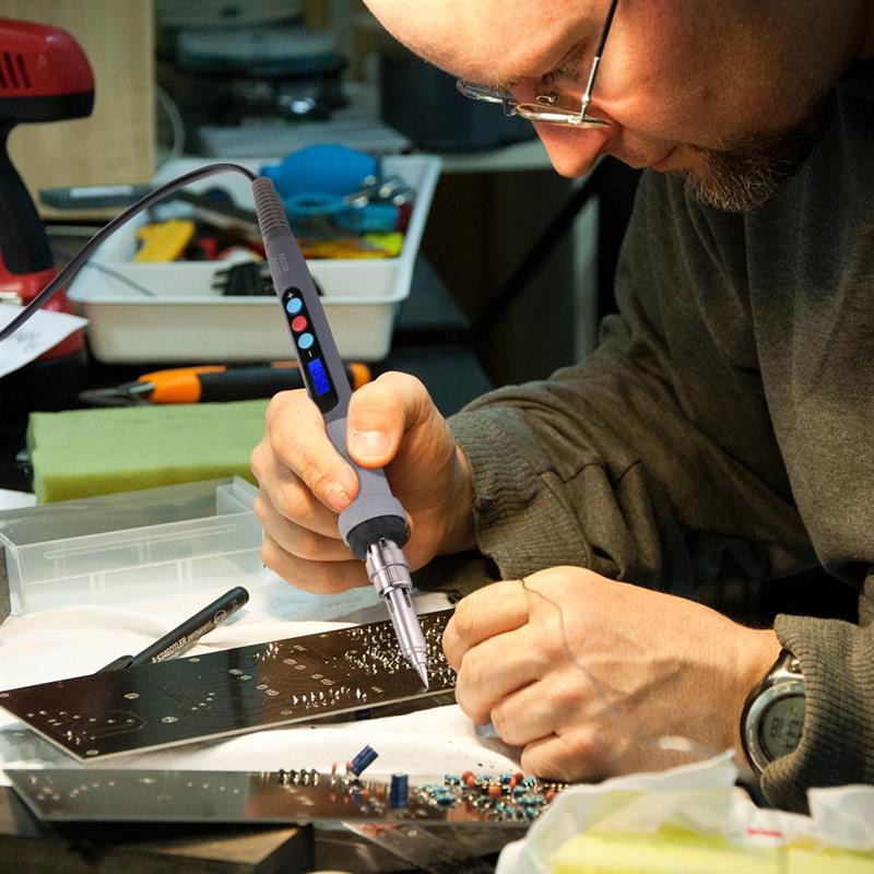 Image 3 - 42 шт. комплект для выжигания цифровой ЖК дисплей пирография гравировка пайки комплект термостатический цифровой контроль ручка набор дерево ремесло инструментЭлектрические паяльники    АлиЭкспресс