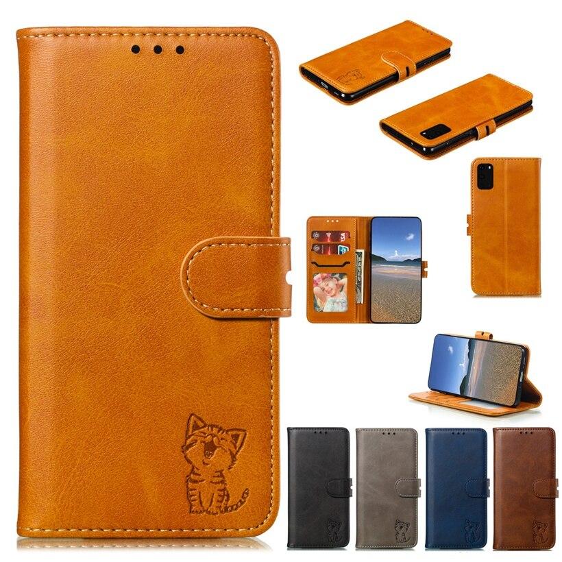 Чехол-книжка с кошкой для Huawei P20 P30 Mate 20 30 Lite Pro Y6 Y7 Y9 Prime Y5 2019 Honor 20 8X, роскошный кожаный чехол