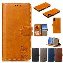 Voor Sony Xperia Xa XA1 XA2 XA3 10 XZ2 XZ3 XZ4 XZ5 L2 L3 10 5 1 Compact Case Leuke kat Flip Wallet Holder Luxe Leather Cover