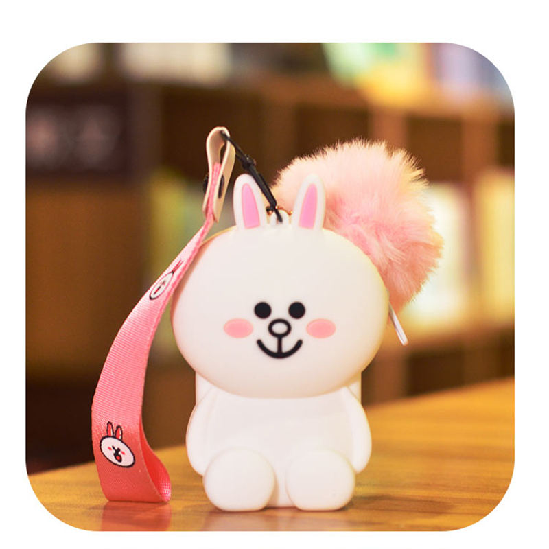 Drop Shipping Cute Student ID Card Holder Cartoon Silicone Women Credit Business Cards Protector Wallet