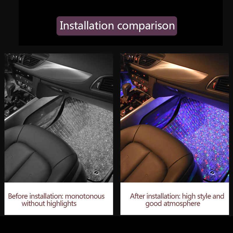 Auto luces de la atmósfera cigarrillo lámpara Decoración Para Peugeot 206, 207, 307, 107, 407, 507, 508, 408, 308, 506, 406, 1008, 5008, 3008 deporte