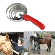 Stainless Steel  Premium Cattle Sheep Sweat Scraper Lightweight Horse Hair Comb Convenient   for Professional Use