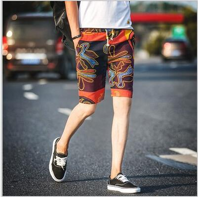 WZX42  Popular Many Color Printing Leisure Shorts Men's Large Size Korean Version Of The Fashionable