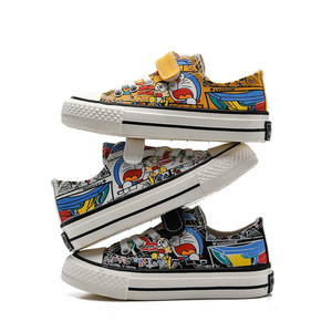 Image 4 - Babaya Children Canvas Shoes Boys Sneaker Breathable 2020 Spring New Cartoon Graffiti Girls Shoes Fashion Kids Sneakers for Girl