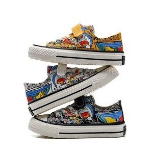 Image 4 - Babaya Kinder Leinwand Schuhe Jungen Sneaker Atmungsaktive 2020 Frühjahr Neue Cartoon Graffiti Mädchen Schuhe Mode Kinder Turnschuhe für Mädchen