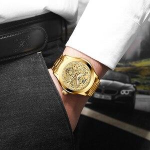 Image 3 - Super Mechanische Gefühl, Edgy Hohl Uhr Disc, KINYUED, die Neueste Mode Wasserdicht Luminous männer Automatische Mechanische Uhr